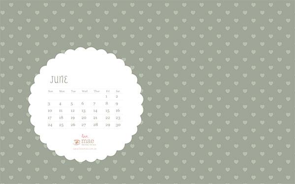 June 2012 Calendar Wallpaper