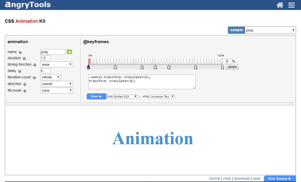 css animation tool
