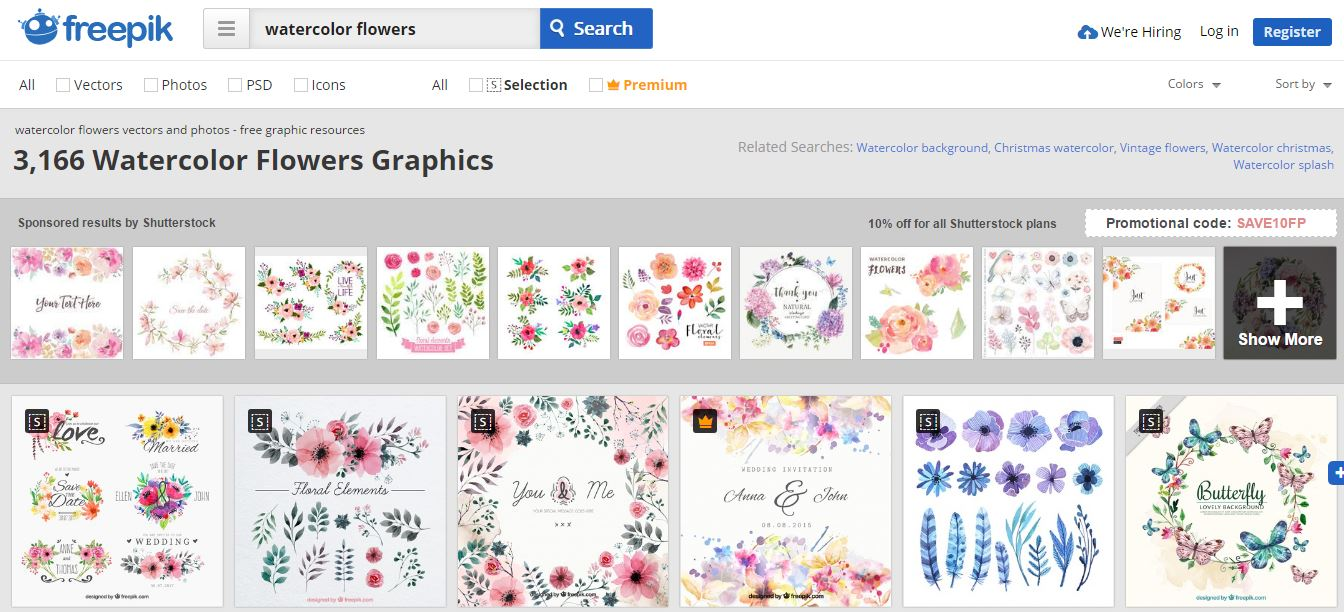 Freepik watercolor designs