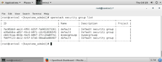 OpenStack security groups