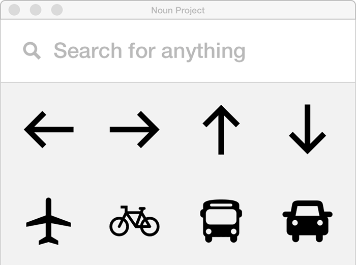 design apps for mac noun project