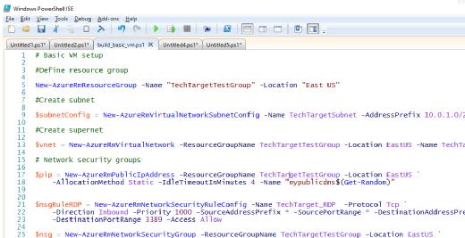 PowerShell script for Azure