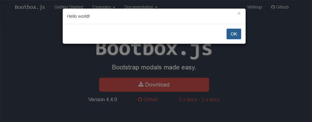 Bootbox.js plugin