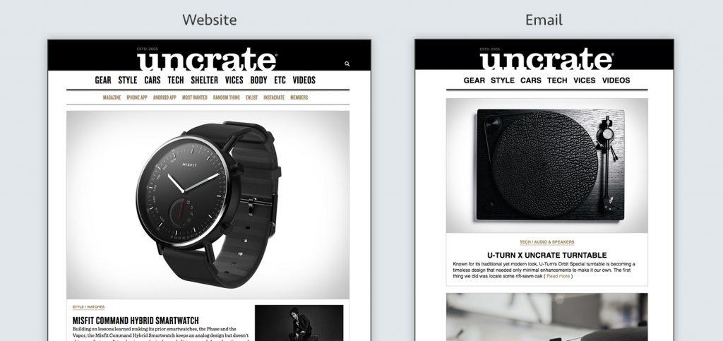 Aweber Website vs Email
