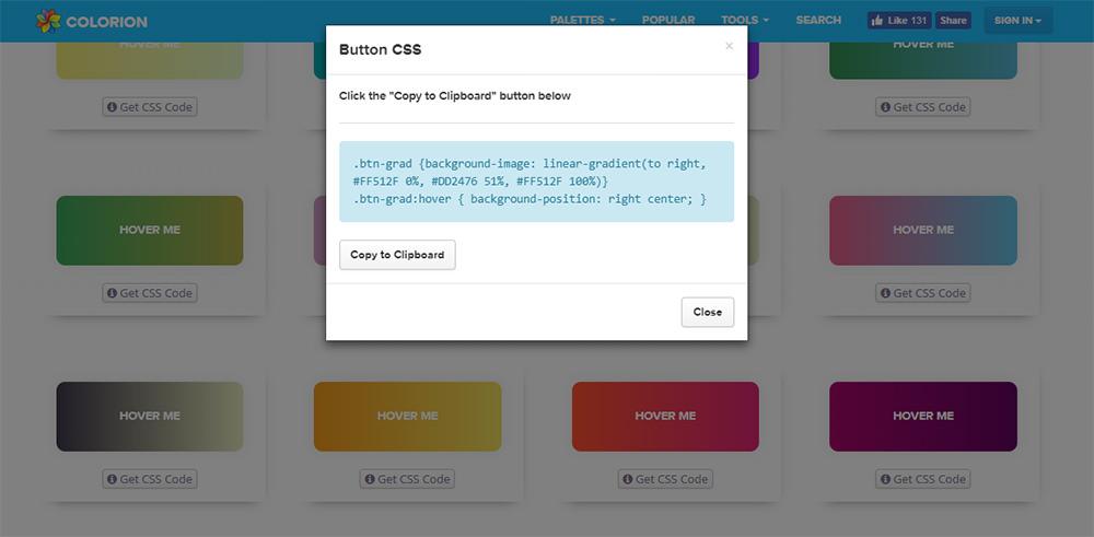 gradient css buttons code