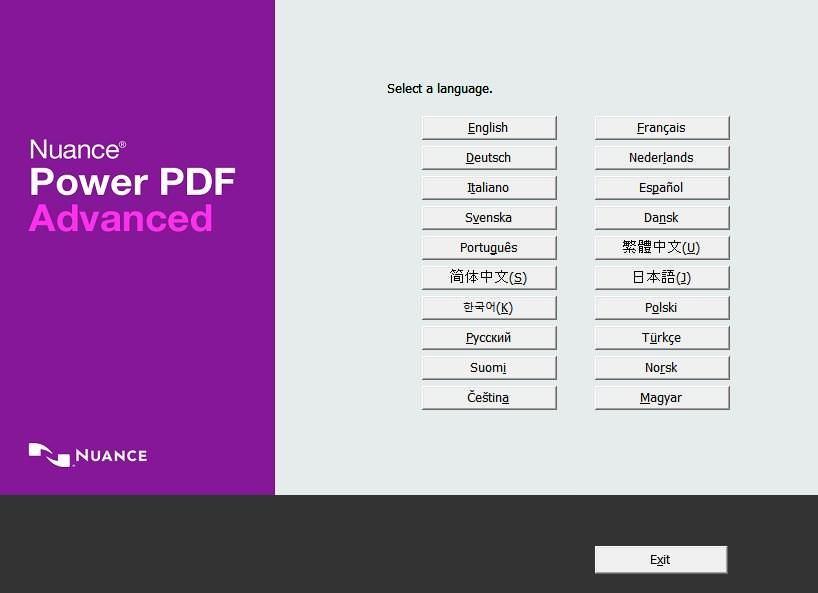 Nuance Power PDF Advanced's installer