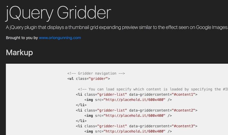 jquery-gridder