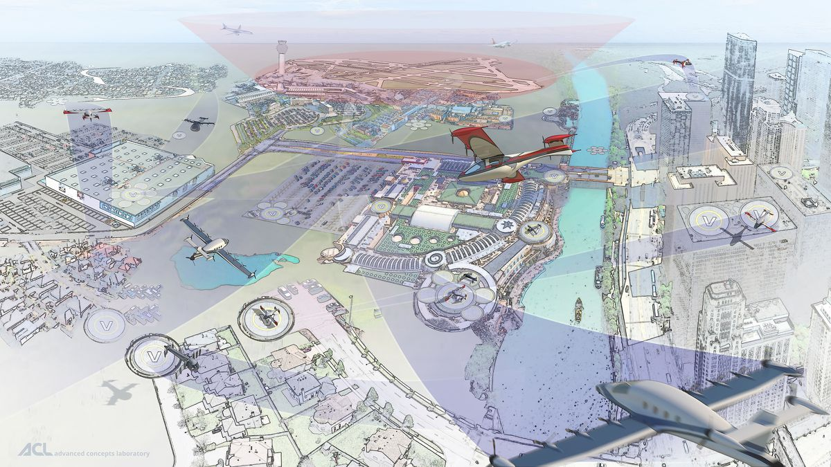 The flying taxi future.