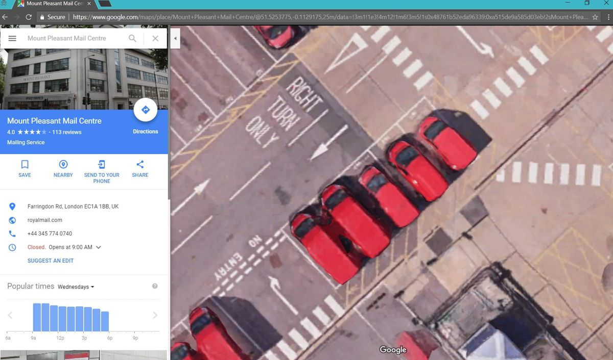 Example of zooming in into Google Maps