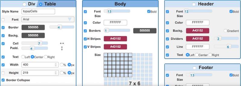 html-table-styler