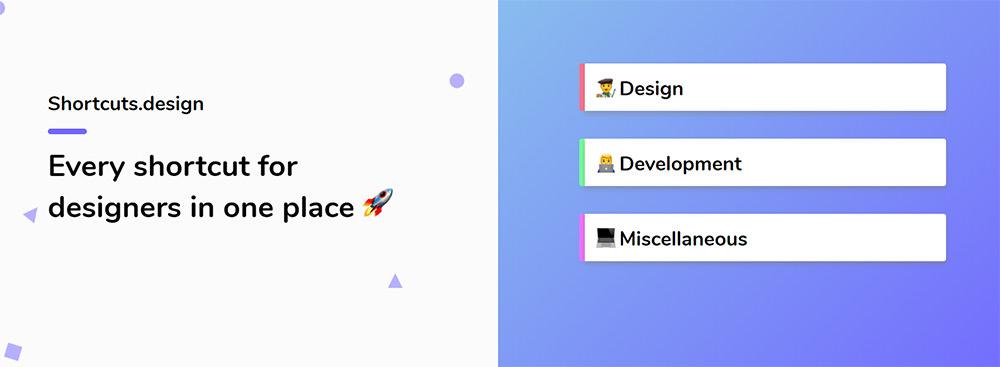 shortcuts for design software