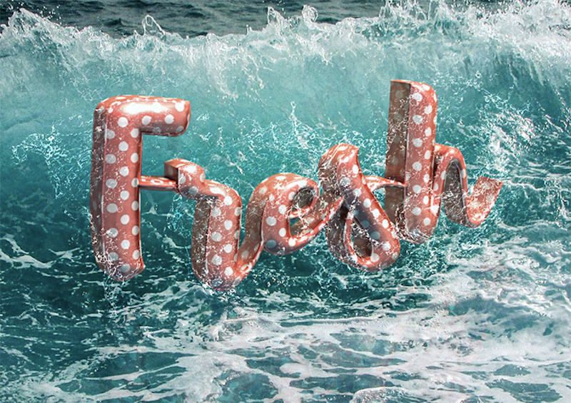 How to Create a 3D Floaties Text Effect in Adobe Photoshop