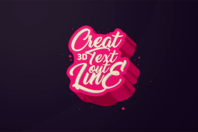 Awesome 3D Lettering Design, Typography/text effect Photoshop