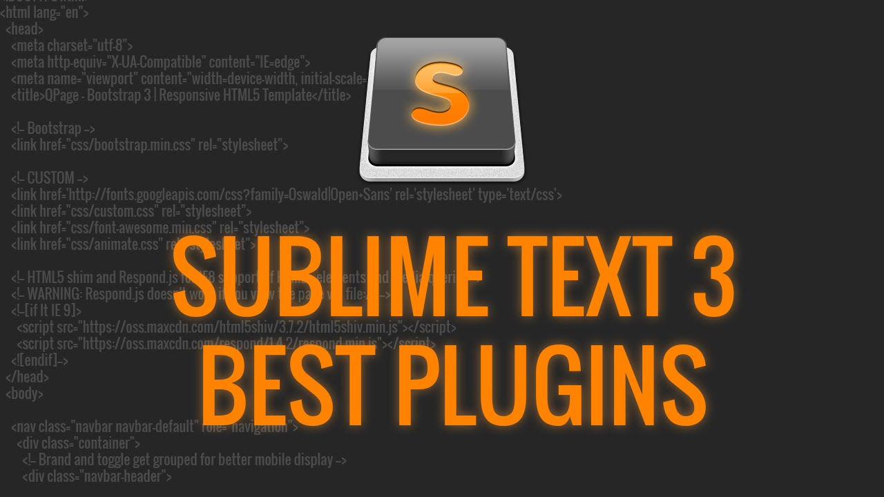Sublime Text 3 Best Plugins for Web Development and Design