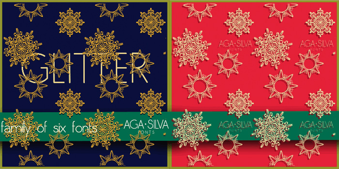 christmas fonts by AgaSilva