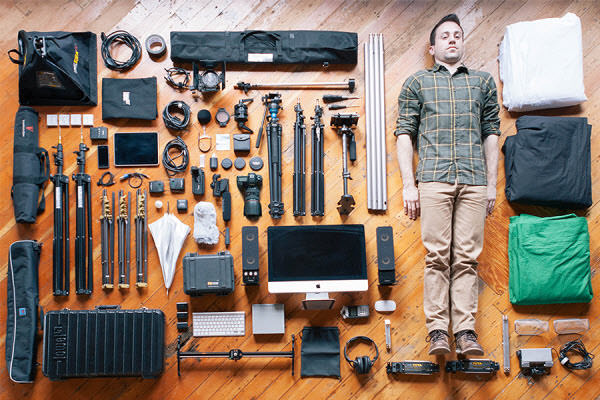 a man and his tools