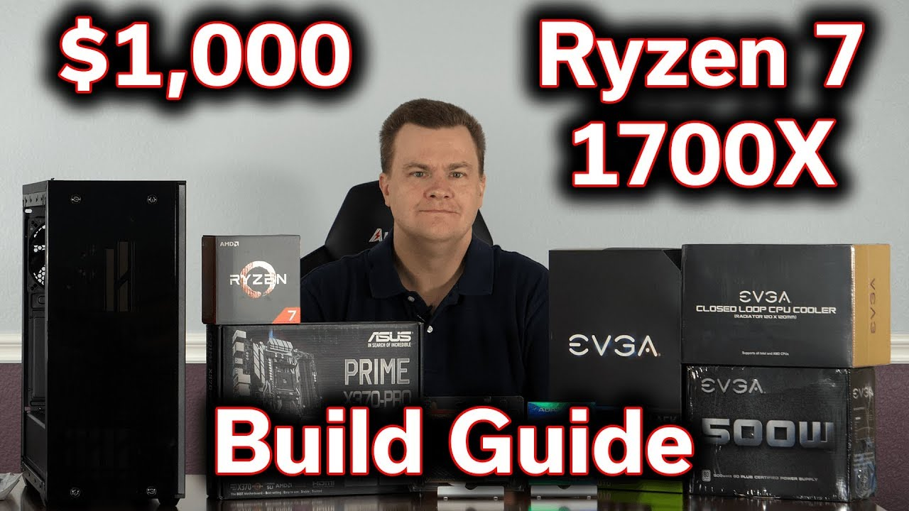 $1,000 Gaming PC – Ryzen 7 1700X – RTX 2070 – Build Guide | TechnolAG